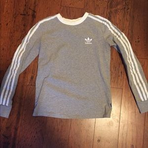 Gray Adidas pull over